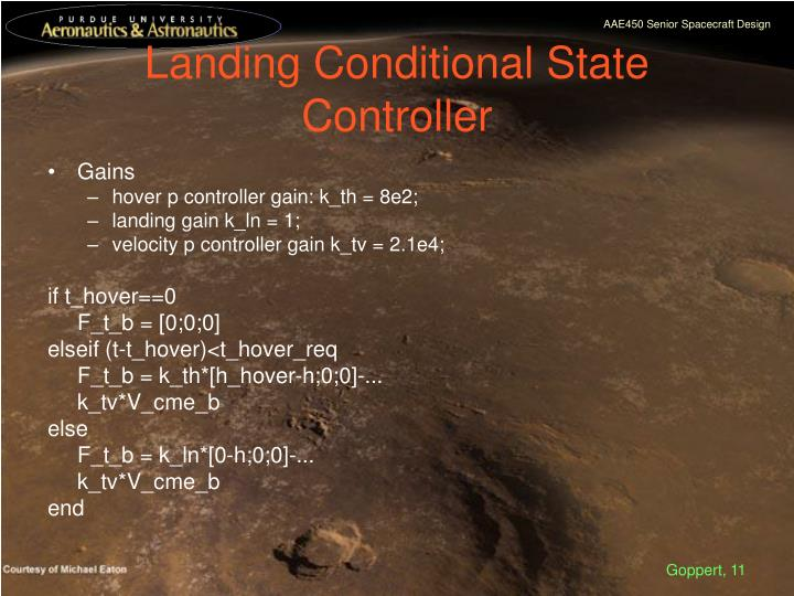 Landing Conditional State Controller
