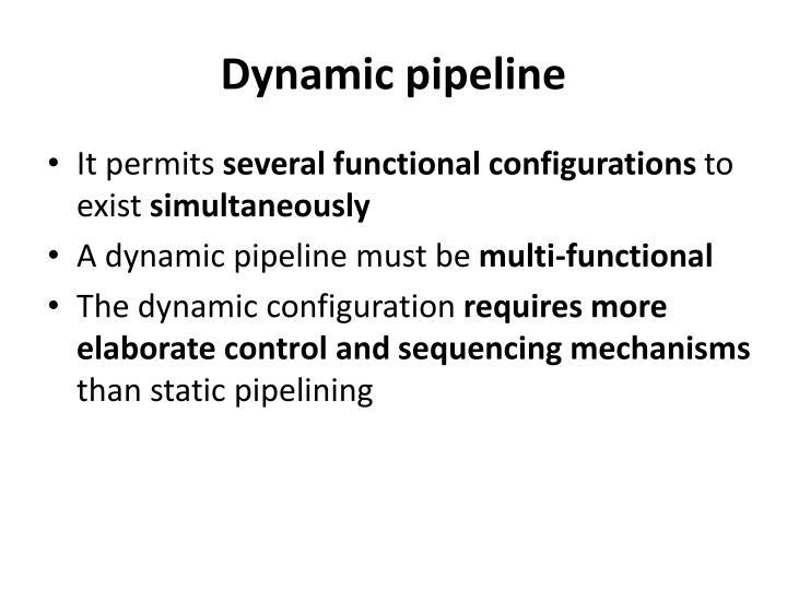 Dynamic pipeline