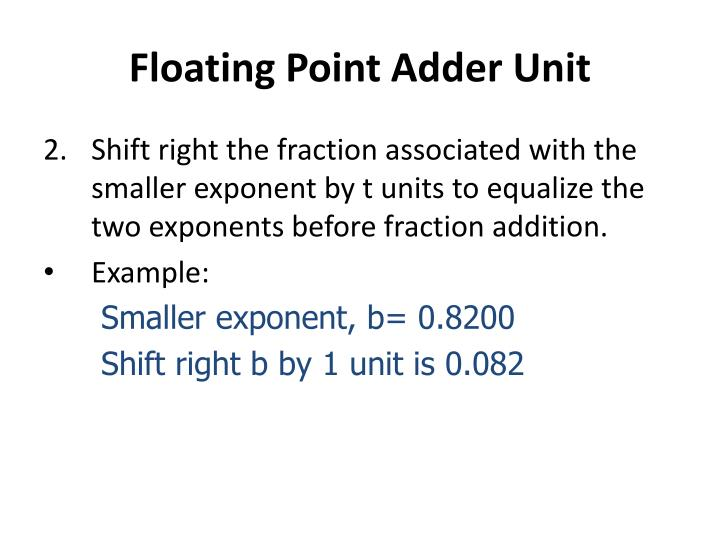 Floating Point Adder Unit
