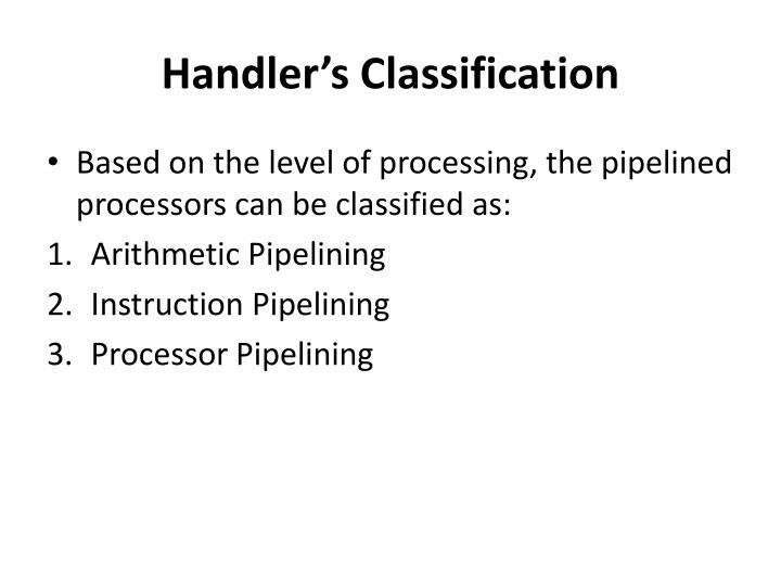 Handler's Classification