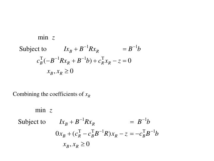 Combining the coefficients of