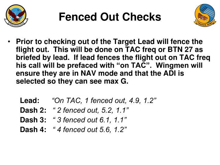 Fenced Out Checks