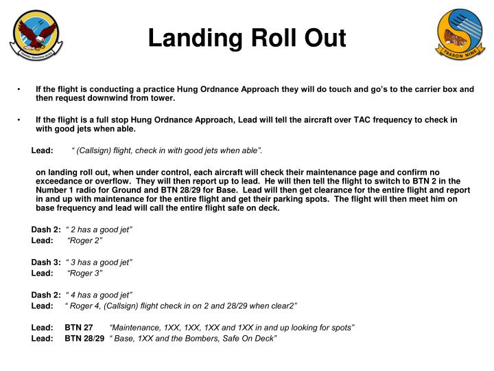 Landing Roll Out