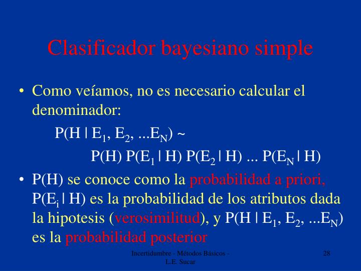 Clasificador bayesiano simple