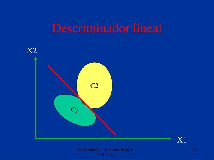 Descriminador lineal