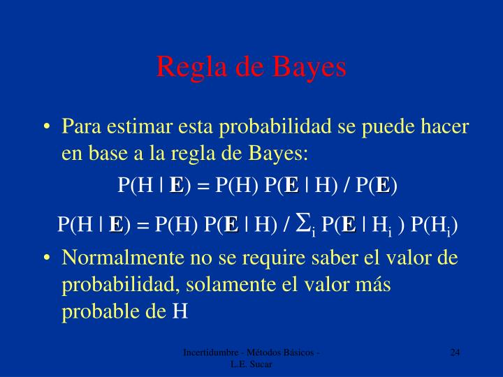 Regla de Bayes