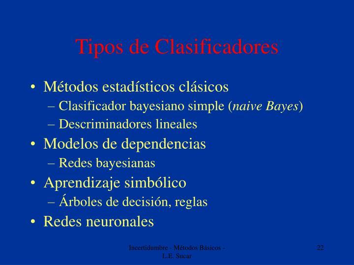 Tipos de Clasificadores