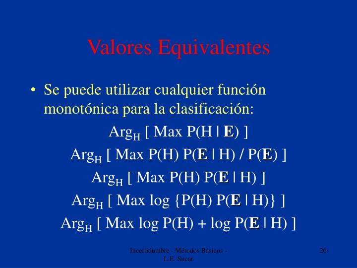 Valores Equivalentes