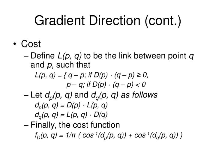 Gradient Direction (cont.)