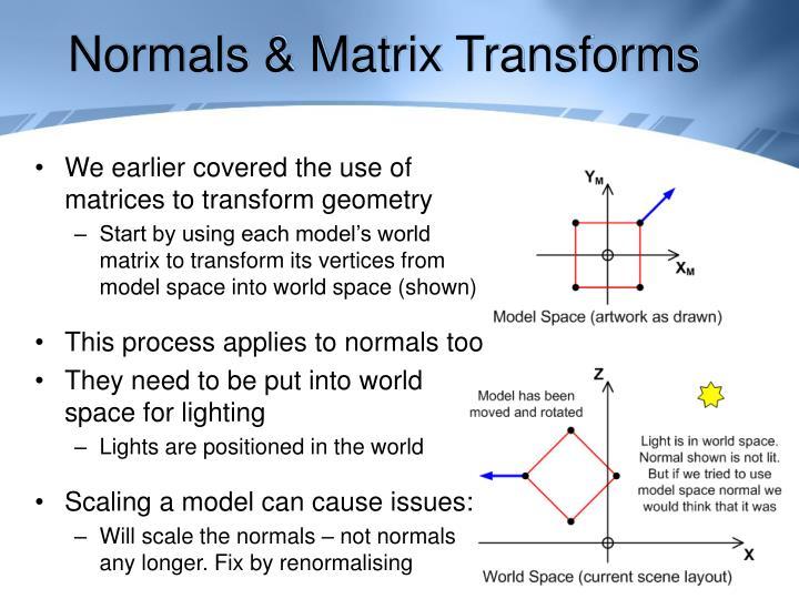 Normals & Matrix Transforms