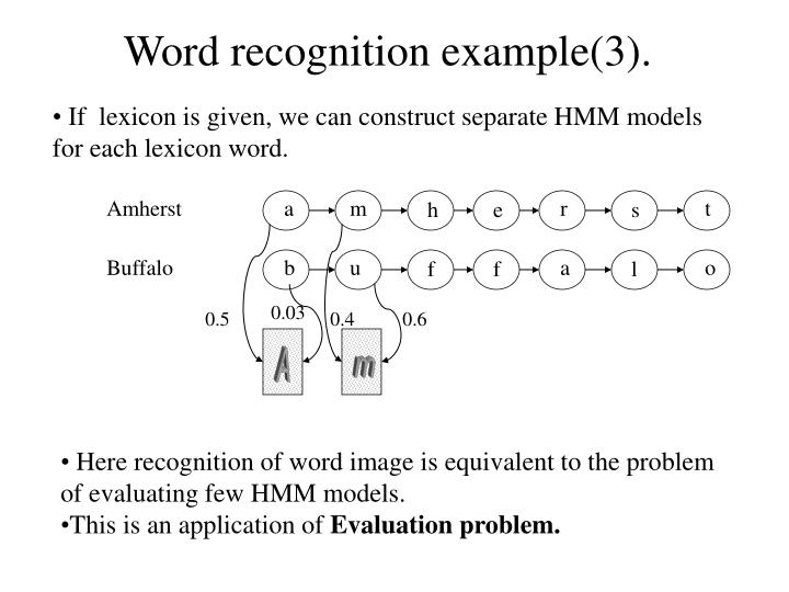 Word recognition example(3).