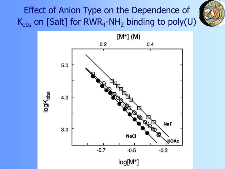 Effect of Anion Type on the Dependence of