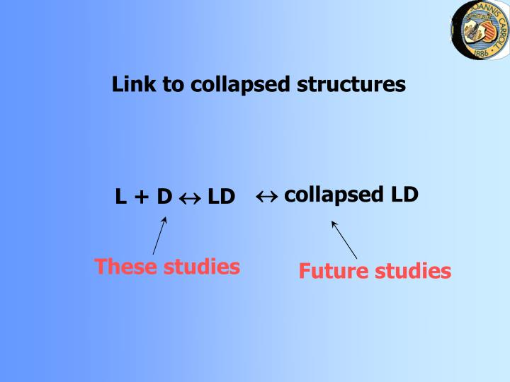 Link to collapsed structures