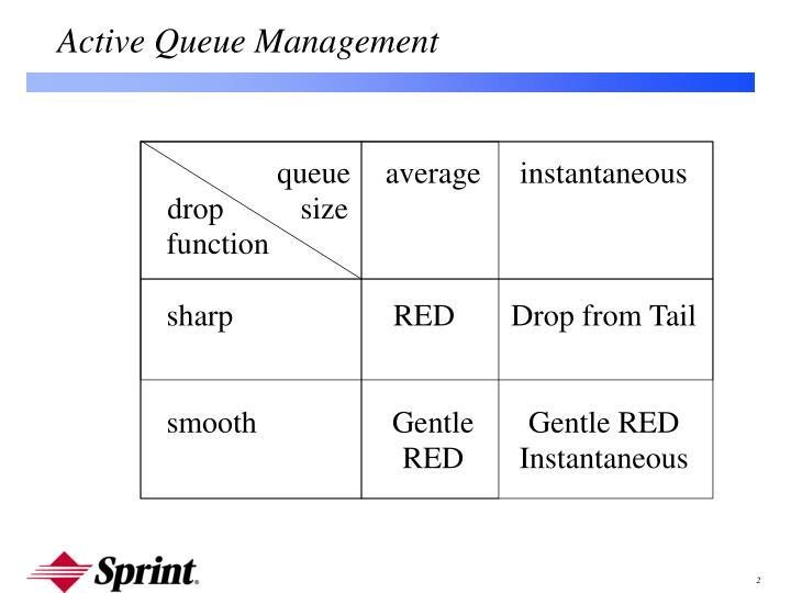 Active Queue Management