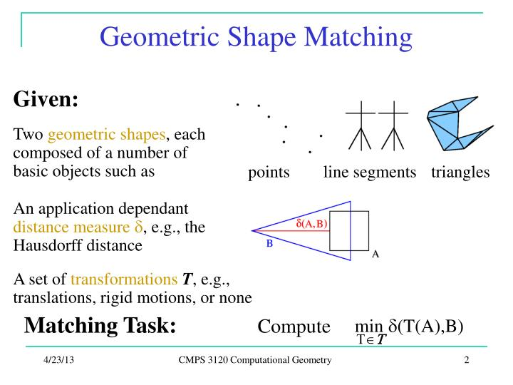 Geometric Shape Matching