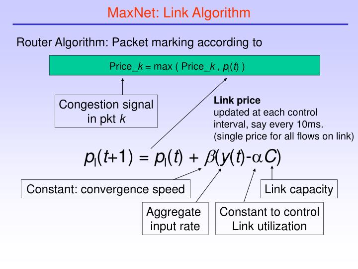 MaxNet: Link Algorithm