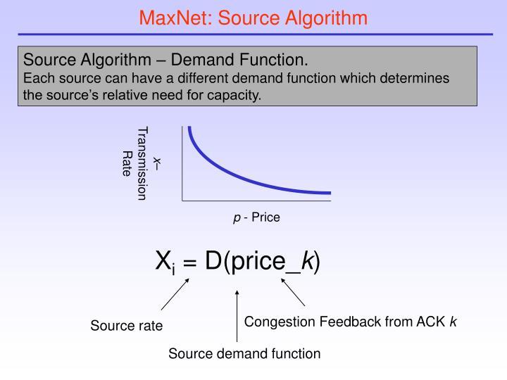 MaxNet: Source Algorithm