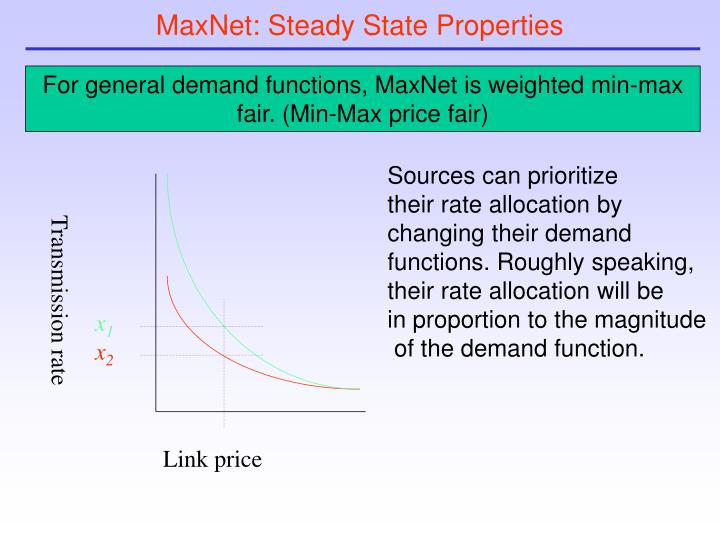 MaxNet: Steady State Properties