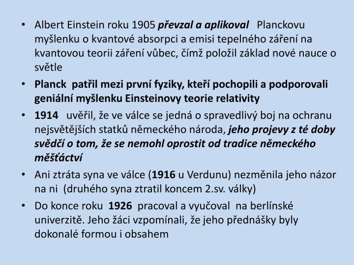 Albert Einstein roku 1905