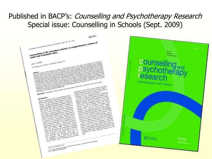 Published in BACP's: