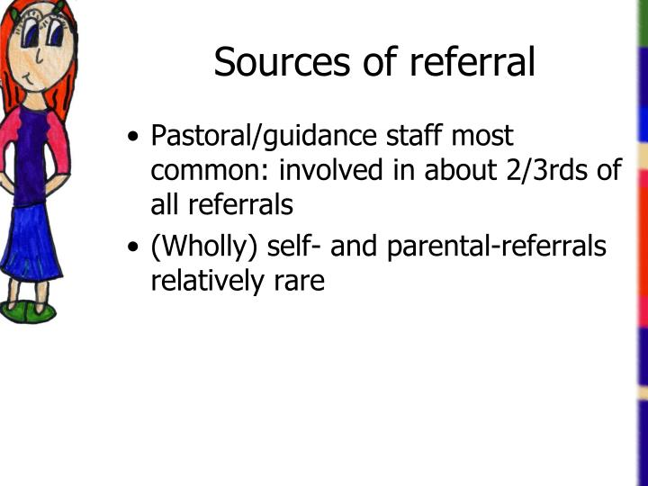 Sources of referral