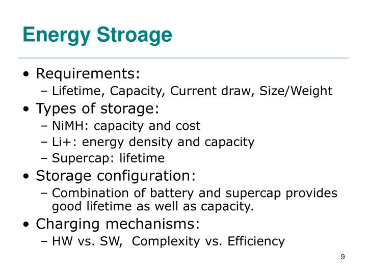 Energy Stroage
