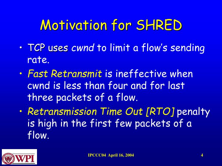 Motivation for SHRED