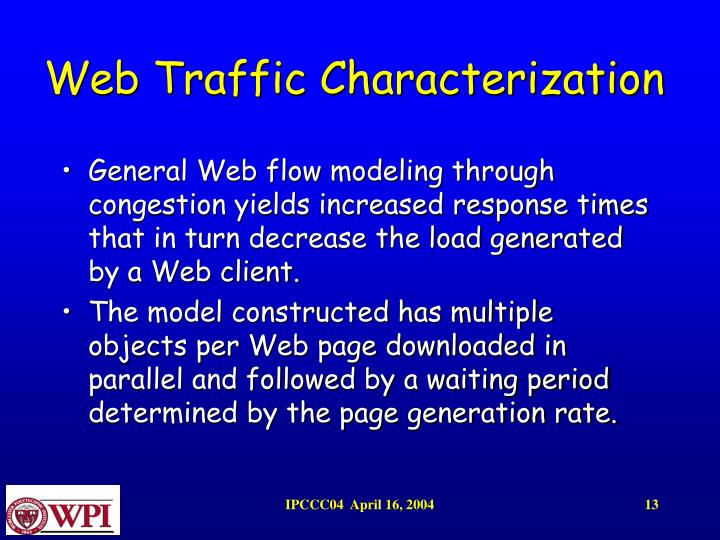 Web Traffic Characterization