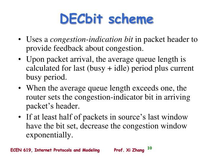 DECbit scheme