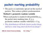 packet marking probability