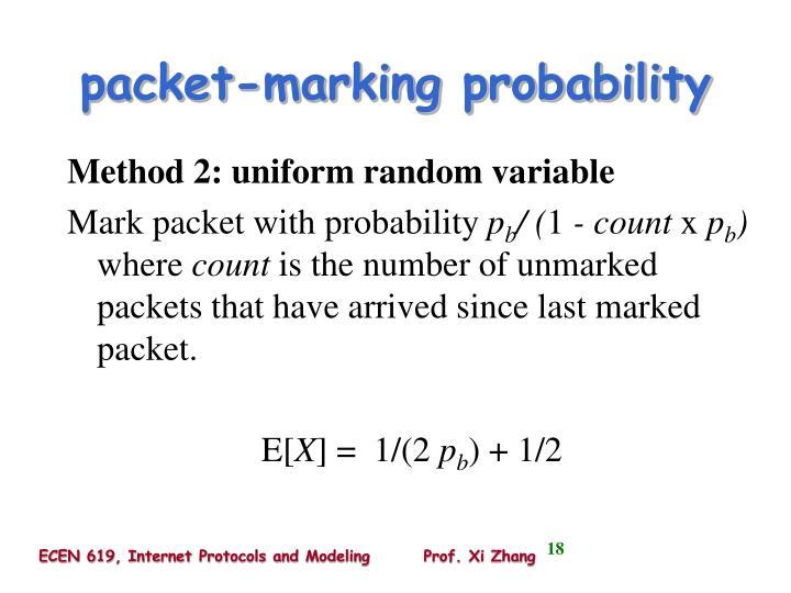 packet-marking probability