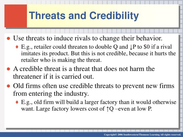 Threats and Credibility