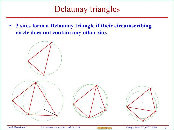 Delaunay triangles