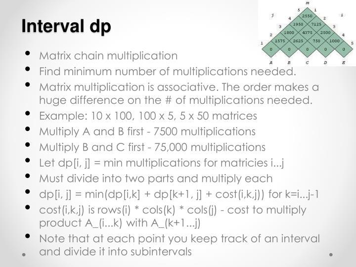 Interval dp