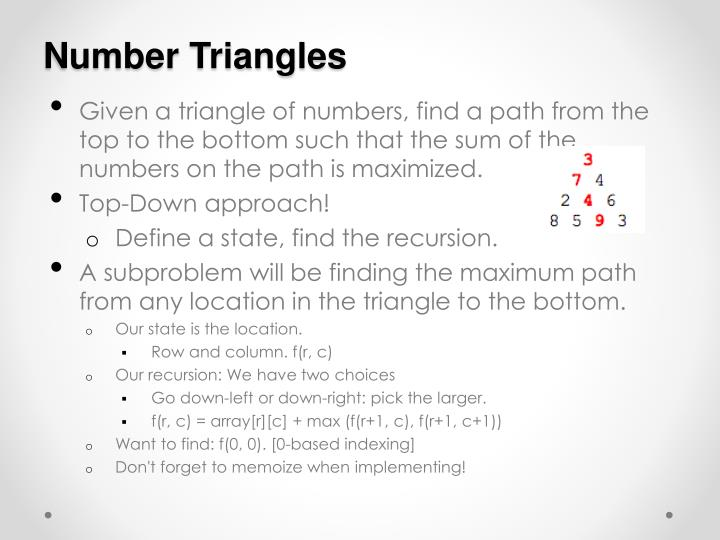Number Triangles