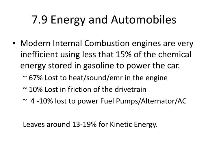 7.9 Energy and Automobiles