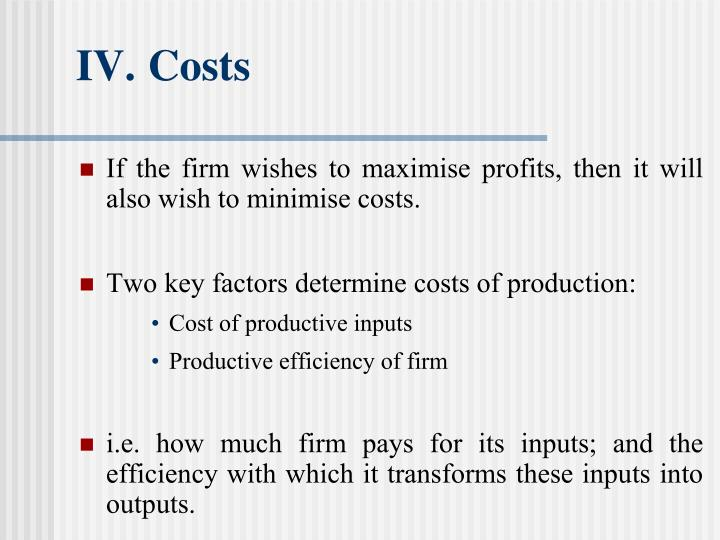IV.	Costs