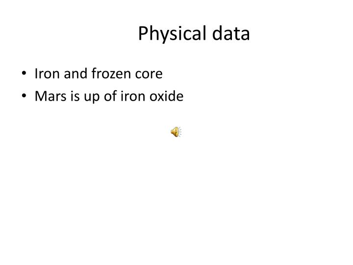 Physical data