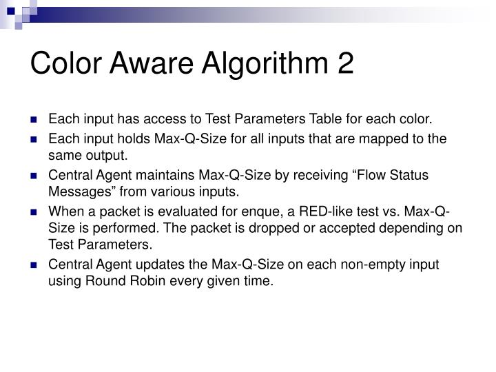 Color Aware Algorithm 2