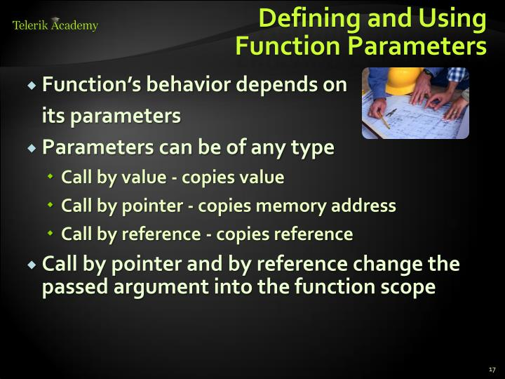 Defining and Using