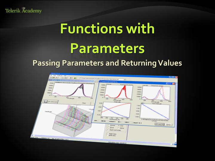 Passing Parameters and Returning Values