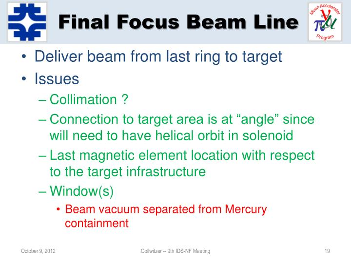 Final Focus Beam Line