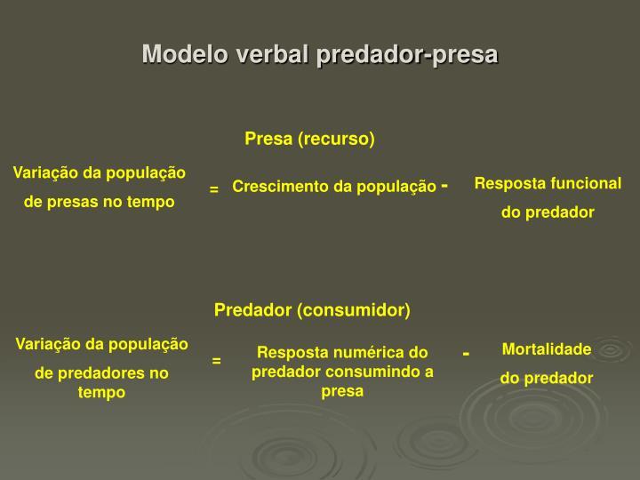 Modelo verbal predador-presa