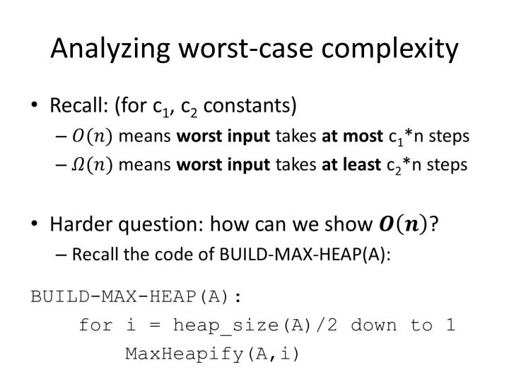 Analyzing worst-case complexity