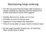 maintaining heap ordering