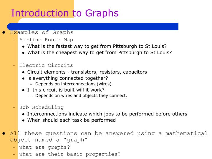 Introduction to Graphs
