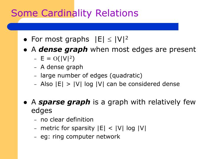 Some Cardinality Relations