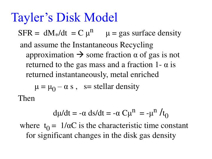Tayler's Disk Model
