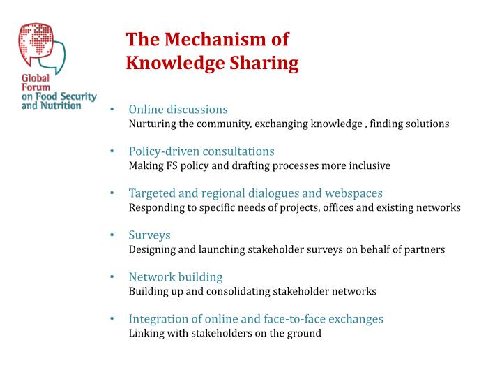 The Mechanism of Knowledge Sharing