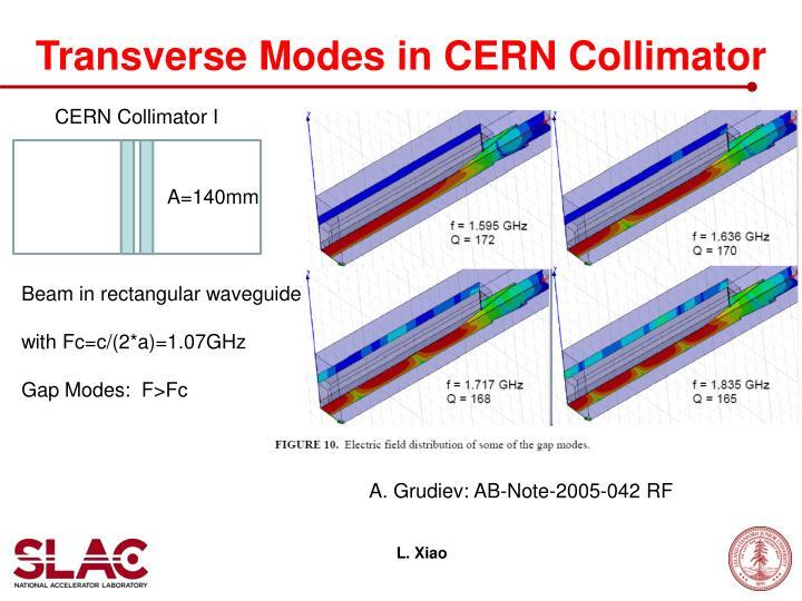Transverse Modes in CERN Collimator